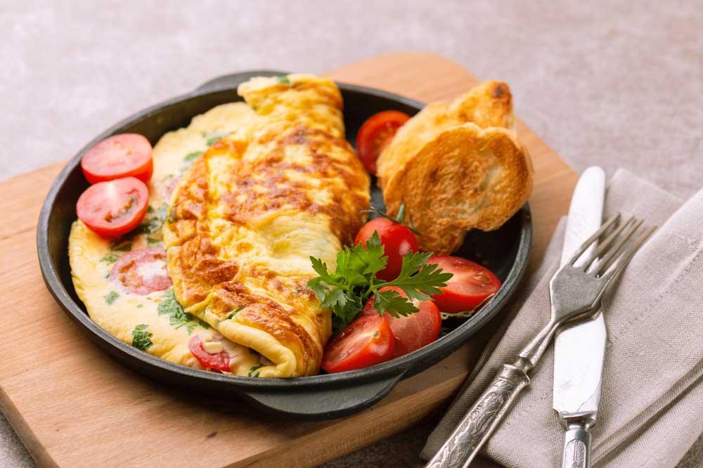 Air Fryer Breakfast Omelette