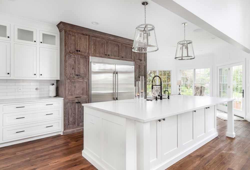 Electrolux Fridge in a beautiful farmhouse style kitchen